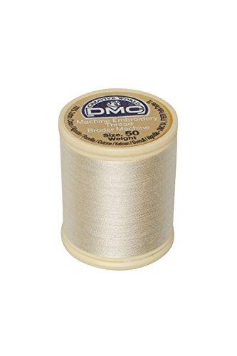 - DMC 237A-50ECRU Cotton Embroidery Thread 50WT 547Yds Ecru