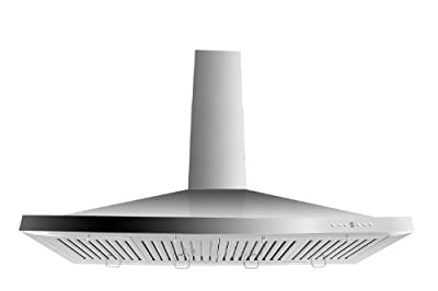 Z Line KB-48-LED Stainless Steel Wall Mount Range Hood, 48-Inch
