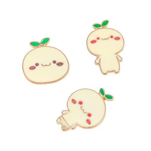 (@Y.T 3-Piece Combination Sprouting Artifact Boy Badges Emoji Brooch)