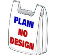 Plain Shopping Bags 16x8x30 500/Case 18 Microns by Plastic Place