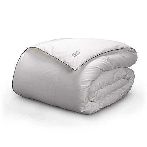 Pillow Guy Almohada Chavo Blanca plumón edredón Certificado RDS, Blanco & Azul, King/Cal King, 1