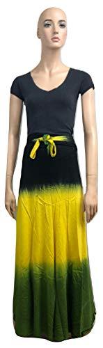 (Rasta (Tricolor) Ladies wrap Skirt (Black))