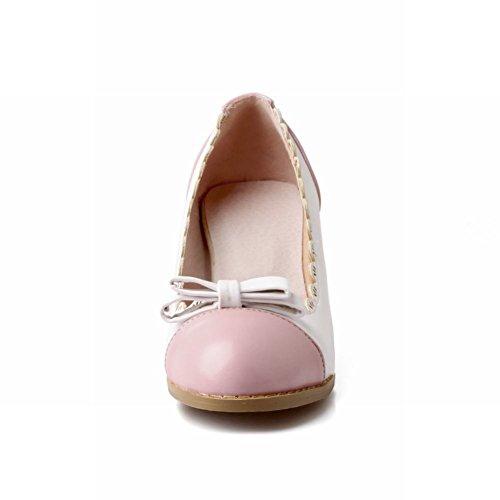Fascino Piede Moda Archi Scarpe Da Donna Tacco Largo Scarpe Rosa