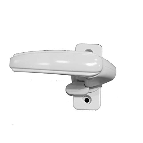Inside Handle Storm Door Latch White With Thumb Lock-Turn Handle Only