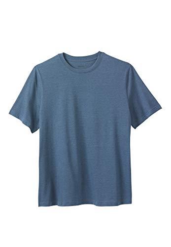 KingSize Men's Big & Tall Lightweight Crewneck T-Shirt, Heather Slate Blue Tall-7XL