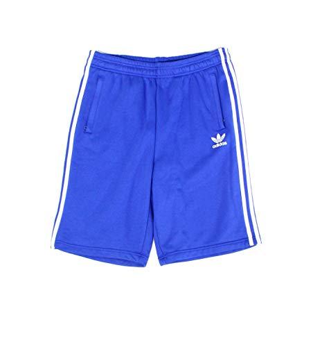 adidas Mens Shorts Medium Drawstring Colorblock Athletic Blue M