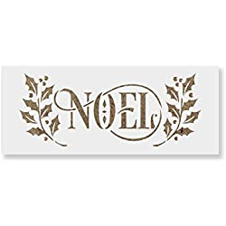 Noel Stencil - Laser-Cut Reusable Stencil Template - Great for Holiday Crafts