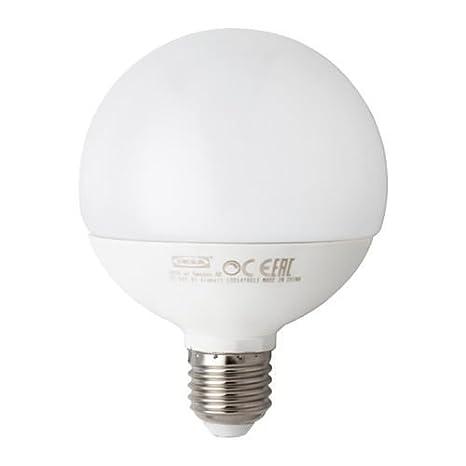Bombilla LED LEDARE E27 1000 lúmenes, regulable, globo Ópalo blanco