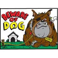 Hy-Ko Products Beware Of Dog Novelty Sign 20542