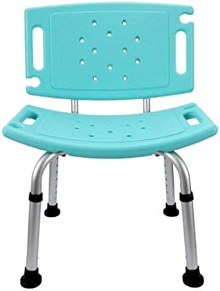 JSHFD Badestuhl mit Handläufen mit Rückenlehne Behinderte Bad Hocker Schwangere Bad Hocker Ältere Rutschfeste Badestuhl