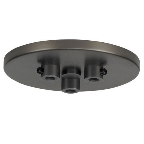Tech Lighting 700TDMRD3TZ Line-Voltage Mini Canopy 3 Port Round, Antique Bronze by Lumtopia--DROPSHIP