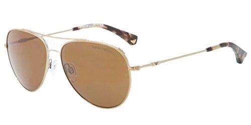 - Emporio Armani EA2010 Sunglasses -301373 Pale Gold Brown - 57mm