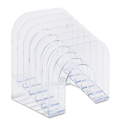 Rubbermaid Six-Tier Jumbo Incline Sorter, Plastic, 9 3/8 x 10 1/2 x 7 3/8, Clear