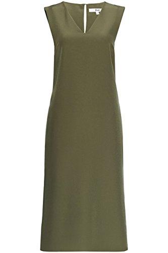 FIND Vestido Geométrico con Aberturas Laterales para Mujer Verde (Khaki)