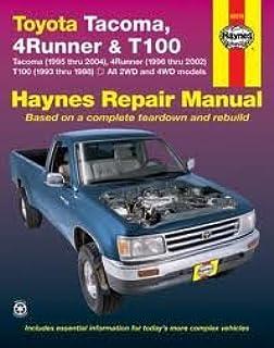 toyota tacoma 4runner t100 automotive repair manual robert rh amazon com 89 toyota pickup owners manual 89 toyota pickup owners manual