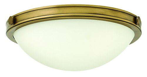 Hinkley 3782HB Transitional Two Light Flush Mount from Maxwell collection in Brassfinish,