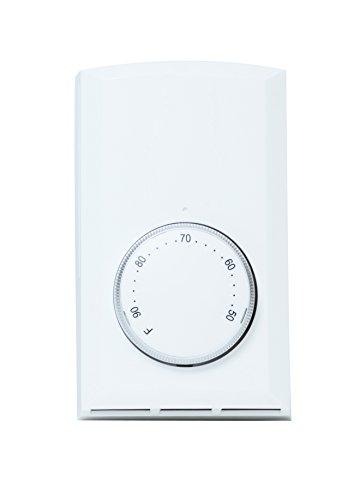 Cadet T521-W Bimetal SP Thermostat White 22A ()