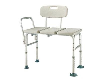 Heavy Duty, Bariatric Aluminum Frame Bathtub Transfer Bench/Bath Chair with Back, Wide Seat, Adjustable Legs, Suction Cups Shower Bench, 450 lbs Weight Limit