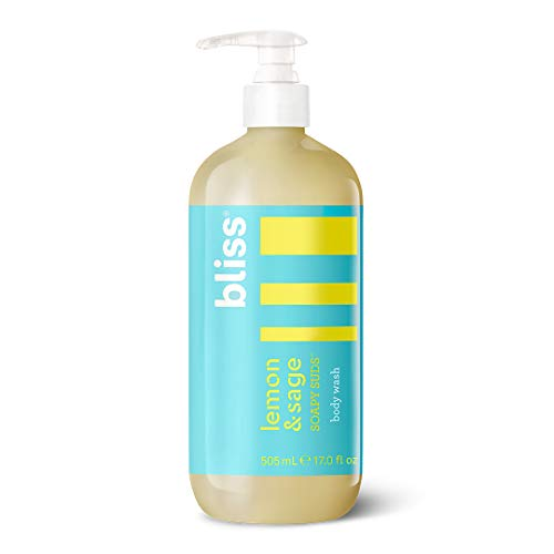 (Bliss Lemon & Sage Soapy Suds Body Wash | Gentle & Hydrating for Supremely Soft Skin |  Paraben Free, Cruelty Free | 17.0 fl)