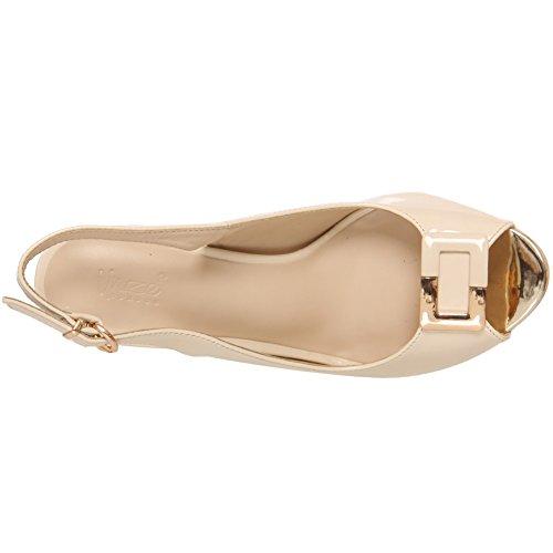 mariage Unze 'Edelman' au 8 Sandales Royaume talons Uni taille 3 de beige bouclées à femmes wUUTxpq10