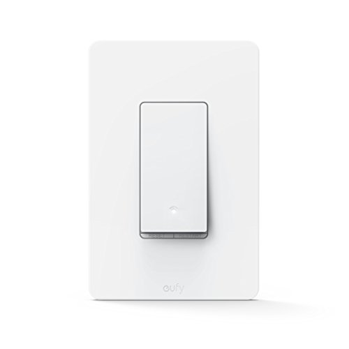 eufy Smart Light Switch By Anker, Amazon Alexa & Google Assistant Compatible, Wi-Fi, Control from Everywhere, No Hub Required, Easy Installation, Single Pole, Requires Neutral Wire, 100~120V AC, 15A