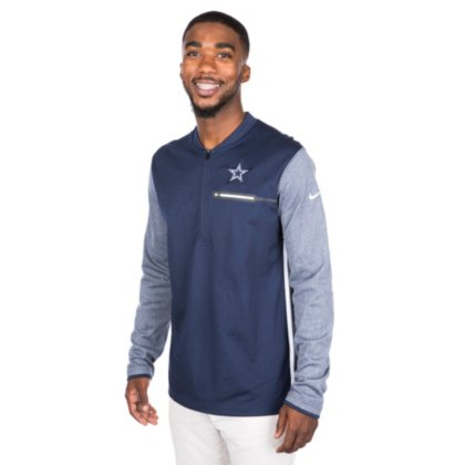 c0ee68274905e9 Amazon.com : Dallas Cowboys Nike Coach Half-Zip Top : Sports & Outdoors
