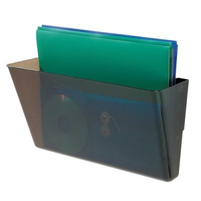 deflect-o DocuPocket Stackable Wall Pocket, Plastic, Letter, 13 x 4 x 7, Smoke -