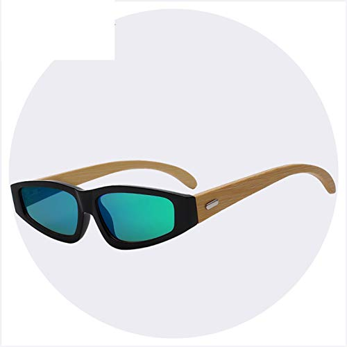 NEW Wooden Glasses Brand Designer Wood Bamboo Square Sunglasses Retro Vintage Eyewear Top Quality ()