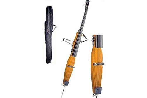Stagg EDB-3/4 H Electric 3/4 Size Double Bass with Gigbag Included - Honey from Stagg
