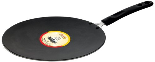 Pigeon by Stovekraft Non Stick 4mm Concave Tawa, 26cm, Black