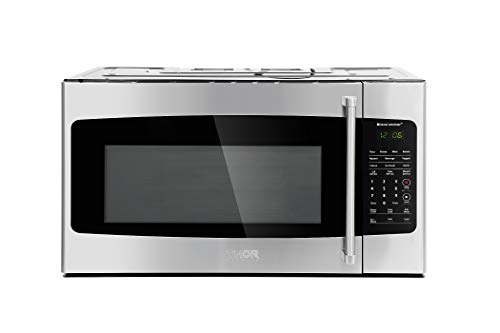 Thor Kitchen Appliance 30 in. W 1.7 cu. ft Over the Range Microwave in Stainless Steel with Sensor Cooking OTR, Eco Mode, Clock Timer and 1000 Watts of Cooking ()