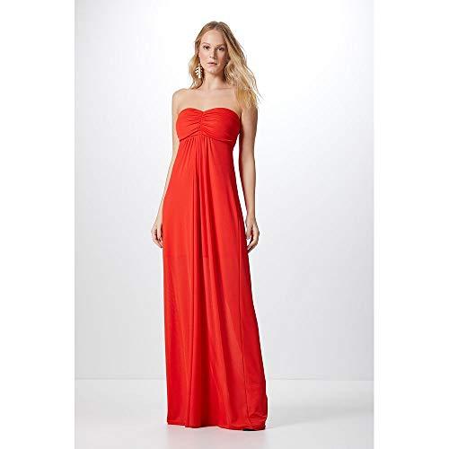 Vestido Midi Bojo-Mandarim Red - P