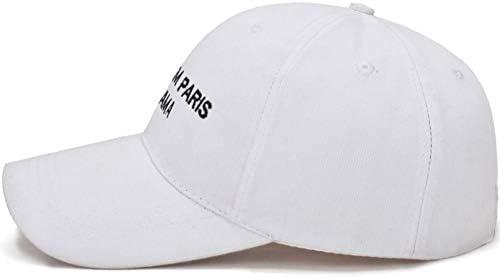 YUANBAOG Gorras de béisbol de Las Mujeres Letras Blancas Negras ...