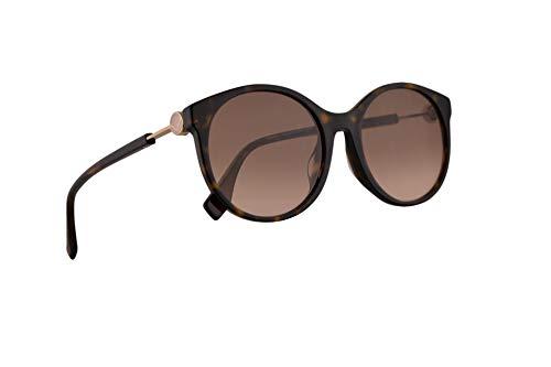 Fendi FF0362/F/S Sunglasses Dark Havana w/Brown Pink Gradient Lens 56mm 086M2 0362FS FF ()