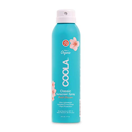 COOLA Organic Sunscreen & Sunblock, Skin Care for Daily Protection, Broad Spectrum SPF 70, Peach Blossom