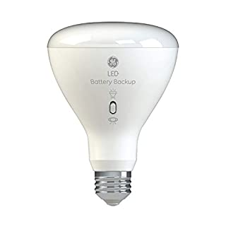GE LED+ Battery Backup BR30 Bulb, 65-Watt Replacement, Soft White