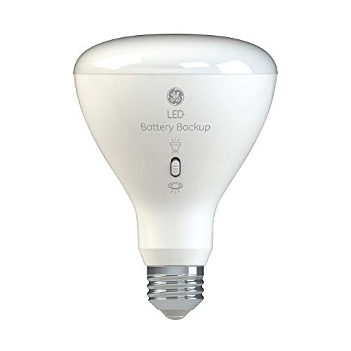 LED+ Backup Battery Light Bulb, BR30, Emergency Light Bulb, 65-Watt Replacement, Soft White, Rechargeable Light Bulbs for Power Outages