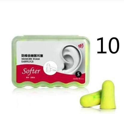 1 caja/10 Pares de Tapones para los oídos con cancelación de Ruido ...