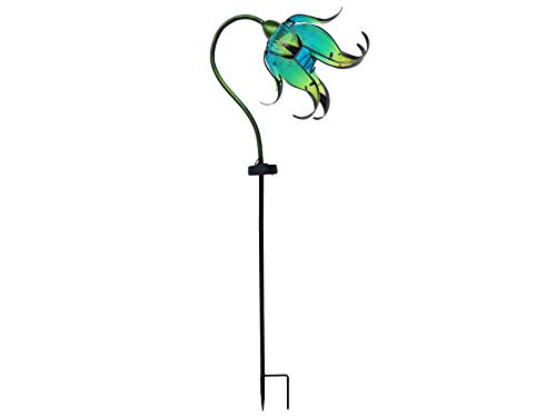 Continental Art Center Inc. CAC17146C Flower DÉCOR Outdoor Solar Yard Art Garden Stake, ()