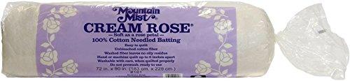 (Mountain Mist Cream Rose 100% cotton Needled Batting)