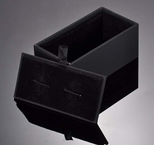 Storage Boxes Bins - Black Paperboard Cufflinks Tie Clips Boxes Matte Paper Men 39 S Jewelry Cuff Links Box Wholesale - Box Bra Organizer Wooden Cufflinks Craft Links Flower Cloth Big