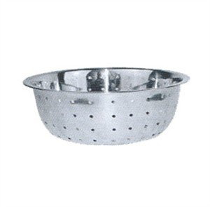 (Winco Chinese Colander with 5mm Holes, 11-Inch, Stainless)