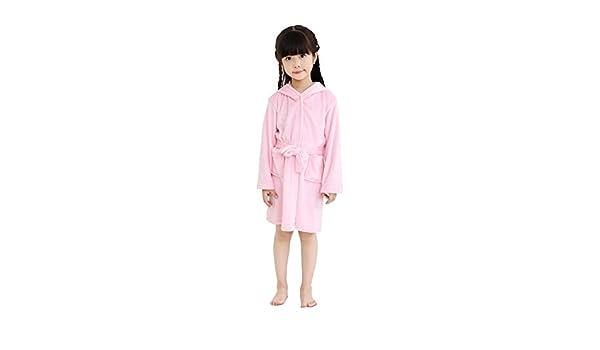 Amazon.com : Luckym Kids Rabbit Bathrobe Hooded Soft Flannel Sleepwear Comfortable Loungewear (Pink, 100) : Baby