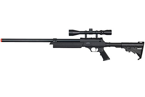 Well Full Metal ASR MB06 SR-2 Spring Sniper Rifle Airsoft Gun (Black/Scope Package)