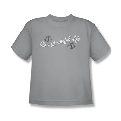 Its A Wonderful Life - Youth Logo T-Shirt In Silver, Medium, Silver