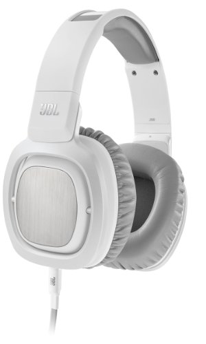 JBL J88i Premium Over-Ear Headphones with JBL Drivers, Rotatable Ear-Cups and Microphone - White