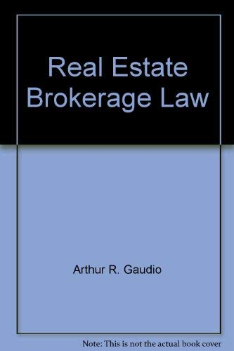 Real estate brokerage law (American Casebooks)