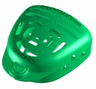 LimeGreen Large Size FreshKase SAFELY Cleans Dentures & P...