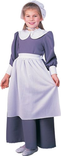 Child Pilgrim Girl Costume - Large (Cheap Colonial Costumes For Kids)