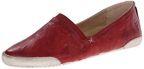 (FRYE Women's Melanie Slip On Sneaker, Burnt Red, 8   M M US)